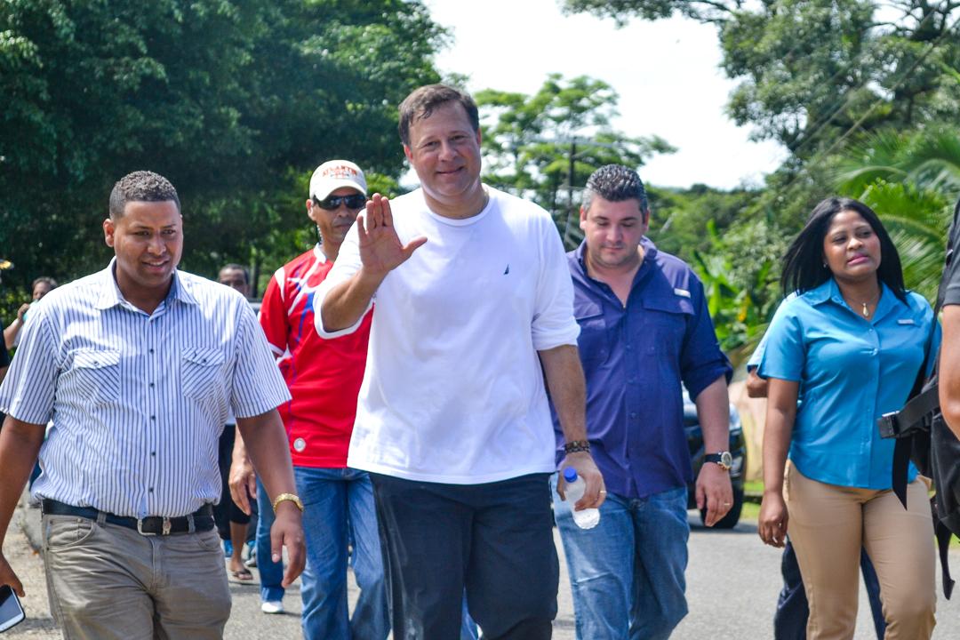 Panama President Juan Carlos Varela Walks to Portobelo for the Cristo Negro Festival
